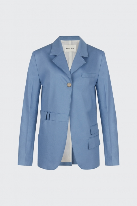[60% OFF] Light blue oversized trousers blazer
