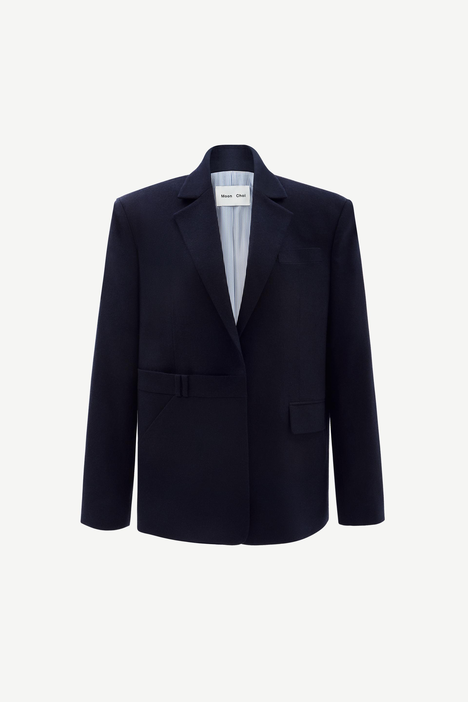 Asymmetrical trousers blazer