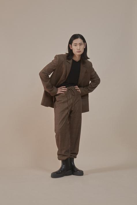 Vintage plaids jogger pants